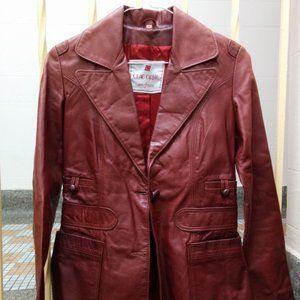 🔥💲 RARE Vintage 1970's leather jacket XXS - EUC